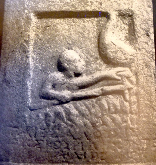 Death on Ancient Greco-Roman Grave Stele