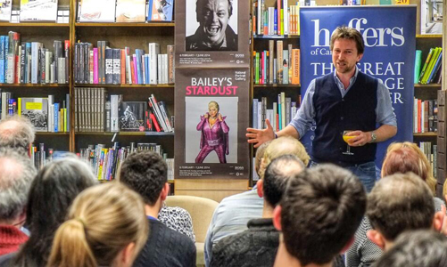 Talking at Heffers Bookshop