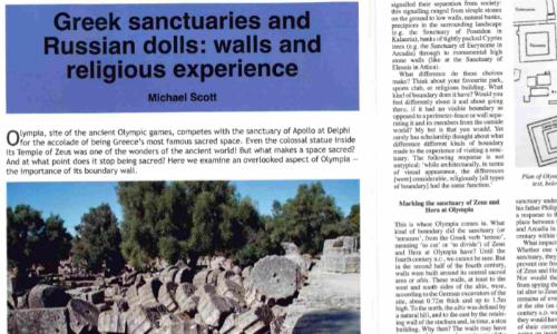 Greek Sanctuaries and Russian dolls