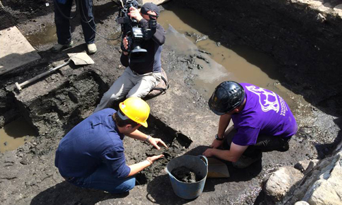 Digging at Vindolanda