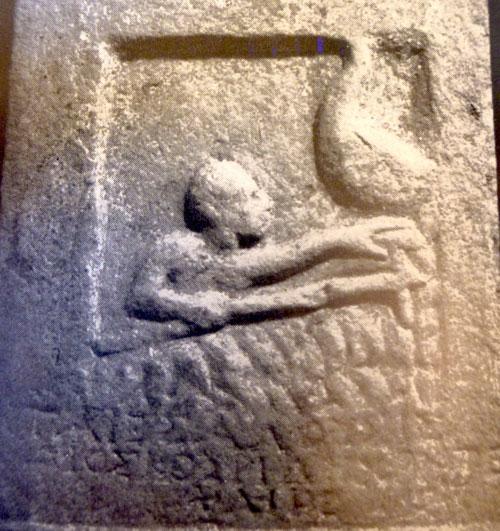 Death on Ancient Greco-Roman Grave Stele