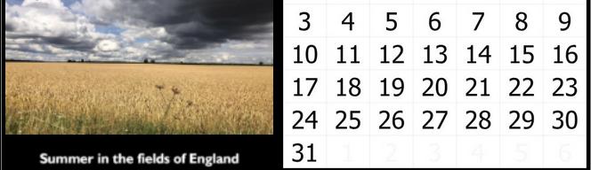 Prof Michael Scott Calendar